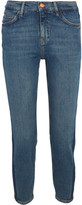 MiH Jeans Tomboy Cropped Mid-rise Skinny Jeans - Mid denim