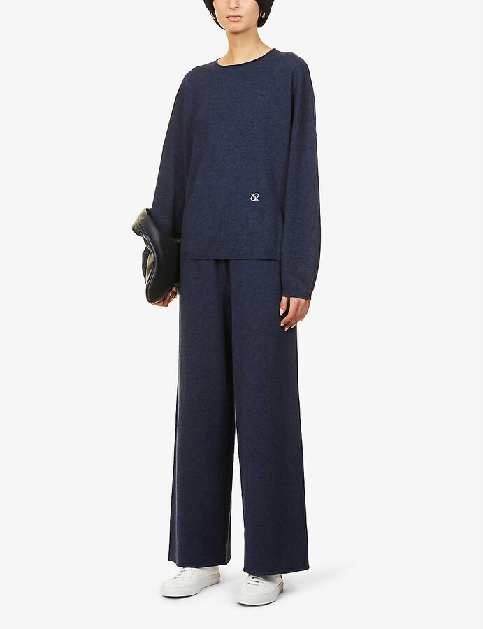 Thumbnail for your product : Camilla And Marc Lago wide-leg wool and organic-cotton blend trousers