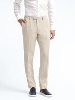 Banana Republic Heritage Slim Cream Linen Suit Trouser