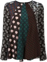 Lanvin patchwork pattern blouse - women - Silk - 34