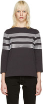 A.P.C. Black Striped Re T-shirt