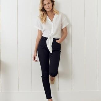 The White Company Symons Skinny Jeans, Black, 6