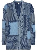 Stella McCartney Knitted and denim cotton cardigan