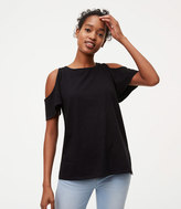 LOFT Vintage Soft Cold Shoulder Tee