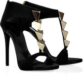 Giuseppe Zanotti Black Jewel-Embellished Sandals