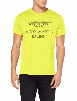 Hackett London Men's Amr Wings Tee T-Shirt Multicolour (Lime 638) XX-Large
