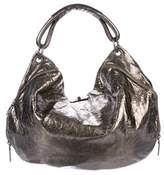 Marni Distressed Metallic Leather Hobo