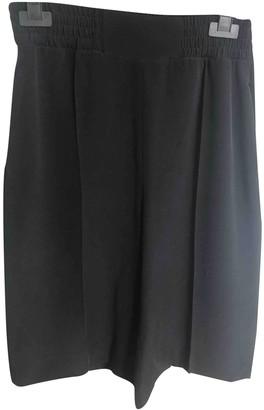Max Mara Black Silk Shorts