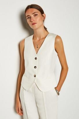 Karen Millen Linen Blend Waist Coat