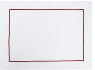 Angela Wickstead - Set Of Four Embroidered-border Linen Placemats - White Multi