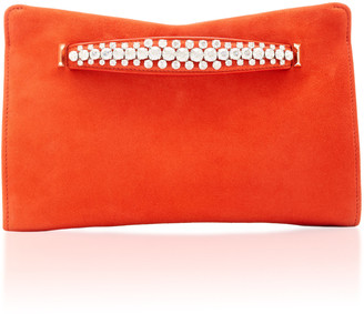Jimmy Choo Venus Crystal-Embellished Suede Clutch