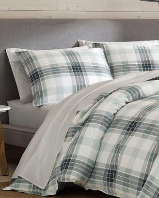 Eddie Bauer Winter Ridge Plaid Green Duvet Cover Set