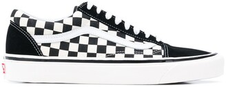 Vans black and white old skool 36 dx leather and canvas sneakers