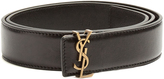 Saint Laurent Monogram leather waist belt