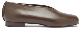 Lemaire High-cut Leather Flats - Dark Brown