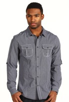 Ecko Unlimited Graph Check L/S Woven Shirt (Black) - Apparel