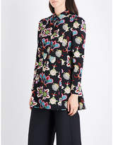 Valentino Floral-print wool tunic