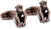 Paul Smith Monkey Burnished Brass Cufflinks - Gold