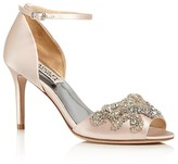 Badgley Mischka Barker Embellished Ankle Strap High Heel Sandals