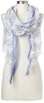 Gap Drapey fringe shibori scarf