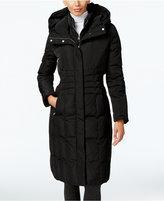 Calvin Klein Hooded Layered Long Down Puffer Coat