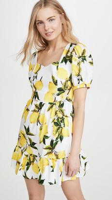 ENGLISH FACTORY Lemon Print Mini Dress