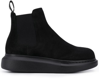 Alexander McQueen Oversized-Sole Ankle Boots