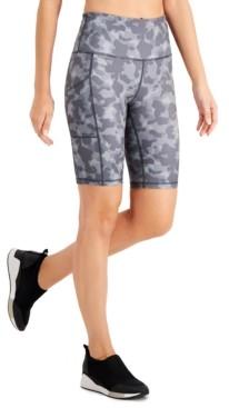 Ideology Camo-Print Bike Shorts, Created for Macy's