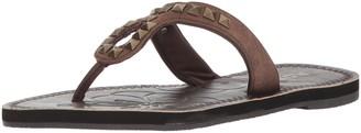 Roper Women's Ada Flip-Flop Brown 5 Medium US