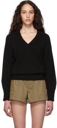 Chloé Black Cashmere Iconic V-Neck Sweater