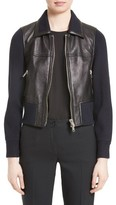 3.1 Phillip Lim Women's Knit Combo Leather Jacket