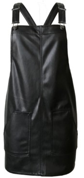 Tinseltown Juniors' Faux-Leather Skirtall
