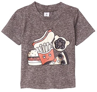 HUXBABY Gold Food T-Shirt (Infant/Toddler) (Charcoal Slub) Kid's Clothing