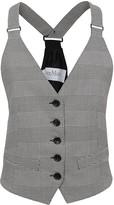 Max Mara Prince Of Wales Check Cotton Waistcoat