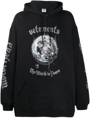Vetements Motorhead oversized hoodie