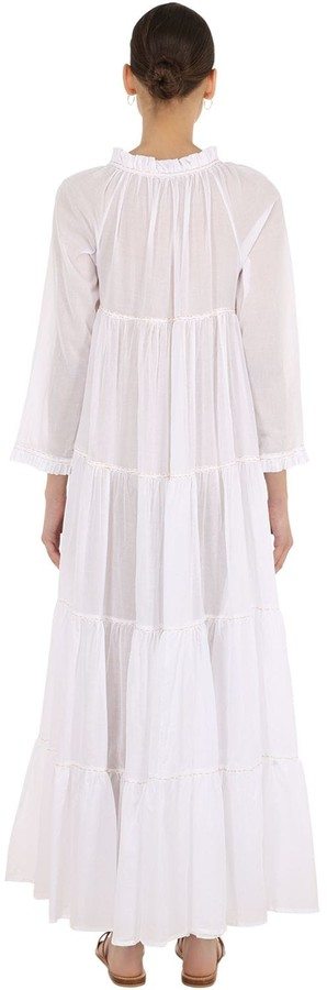 Thumbnail for your product : Yvonne S Cotton Voile Maxi Hippy Dress