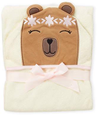 Hudson Baby Newborn/Infant Girls) Boho Bear Hooded Towel