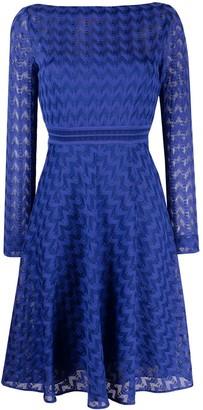 Missoni Semi-Sheer Long-Sleeve Dress