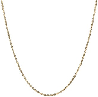 """Italian Gold 20"""" Rope Chain Necklace, 18K"""