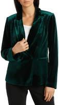 Basque Double Breasted Velvet Jacket
