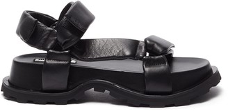 Jil Sander Strapped outdoor platform sandals