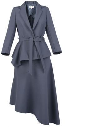 Muza Blue Asymmetric Suit