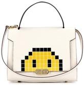 Anya Hindmarch Pixel Smiley Small Bathurst Leather Shoulder Bag