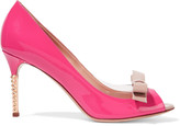 Valentino PVC-trimmed patent-leather sandals