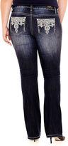 LOVE INDIGO Love Indigo Crochet-Pocket Bootcut Jeans - Plus