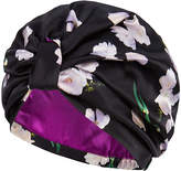 Silk Turban in Ebony Tulip
