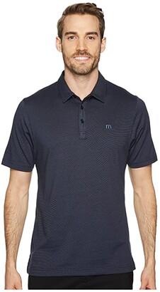 Travis Mathew The Zinna Polo (Vintage Indigo/Black) Men's Clothing