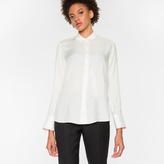 Paul Smith Women's White 'Musical Note' Jacquard Shirt