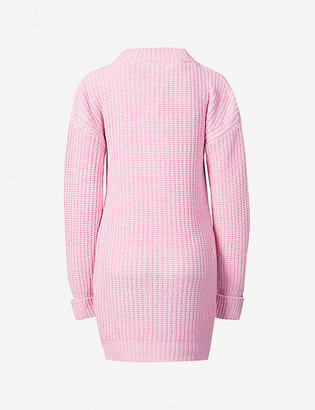 Moschino Waffle-knit cashmere and virgin wool-blend jumper