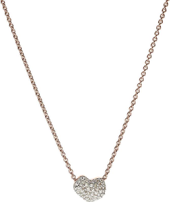 Monica Vinader Nura 18ct rose-gold vermeil and diamond necklace